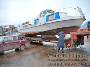 Перевозка буксирного катера