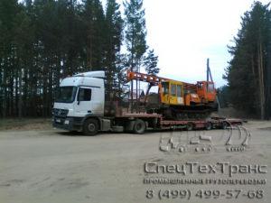 Перевозка бурильно-сваебойной машины БМ 831