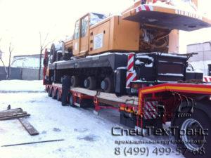 Перевозка колесного крана Liebher LTM-1090