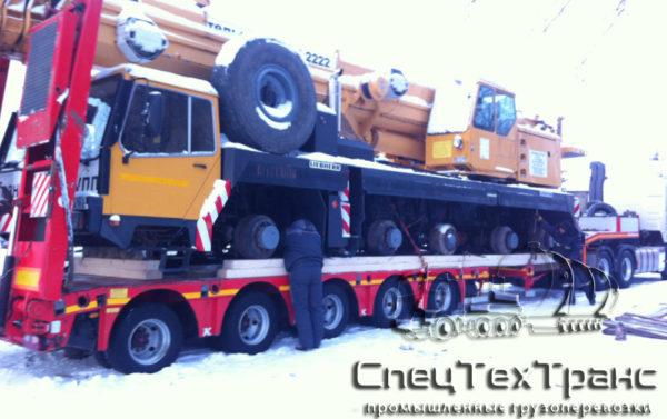 Перевозка колесного крана Liebher LTM-1090 1