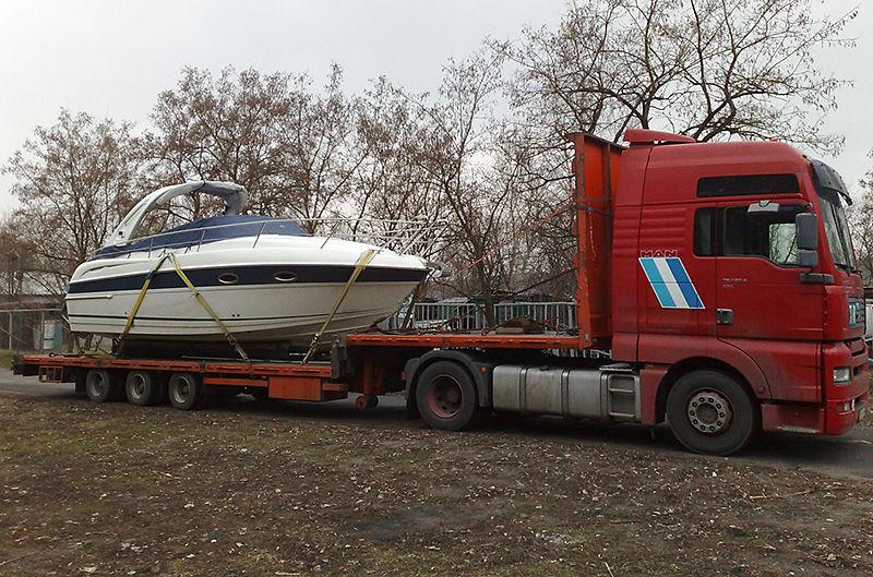 Перевозка судов автотранспортом