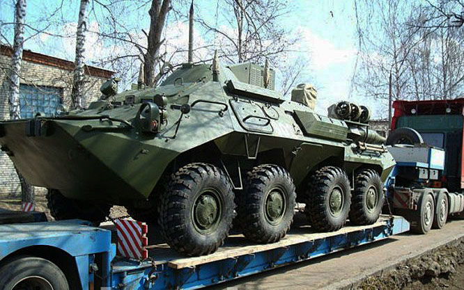 Перевозка бронетранспортеров