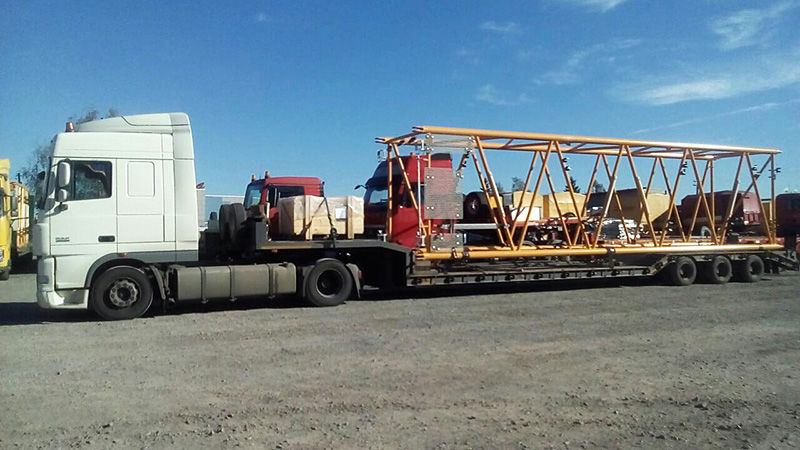 транспортировка башенного крана
