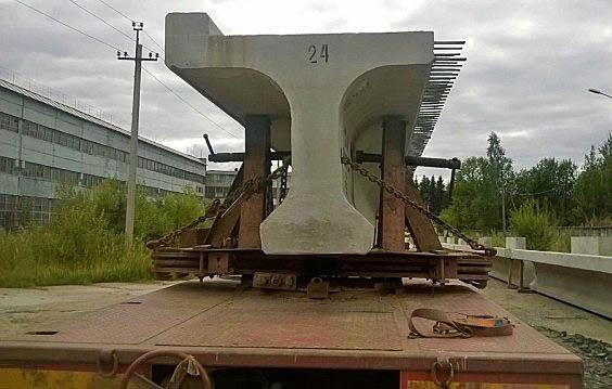 Перевозки мостовых балок автотранспортом