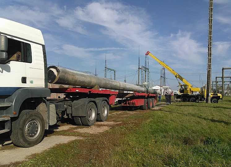 перевозка бетонных столбов