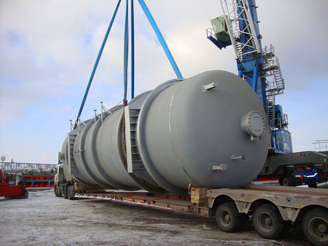Перевозка корпуса реактора