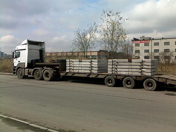 Перевозки ЖБИ автотранспортом
