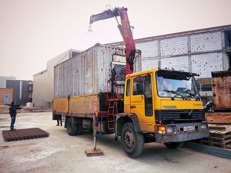 транспортировка блок контейнеров