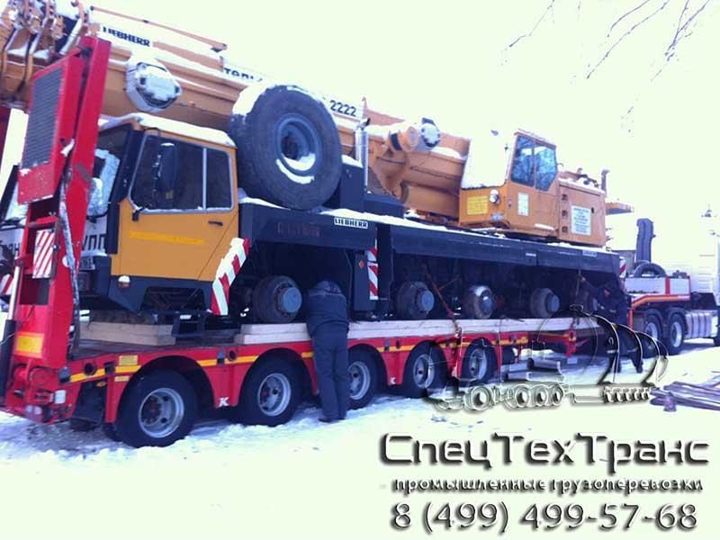Перевозка автокрана Liebher LTM-1090