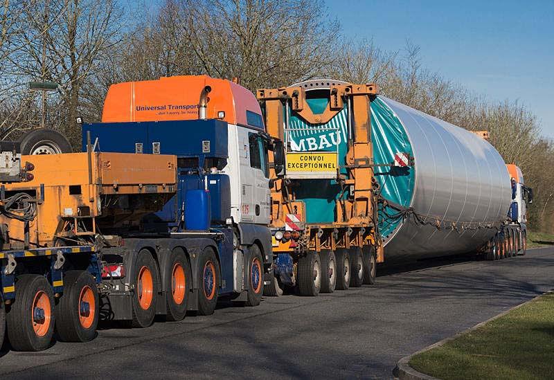 Транспортировка турбин