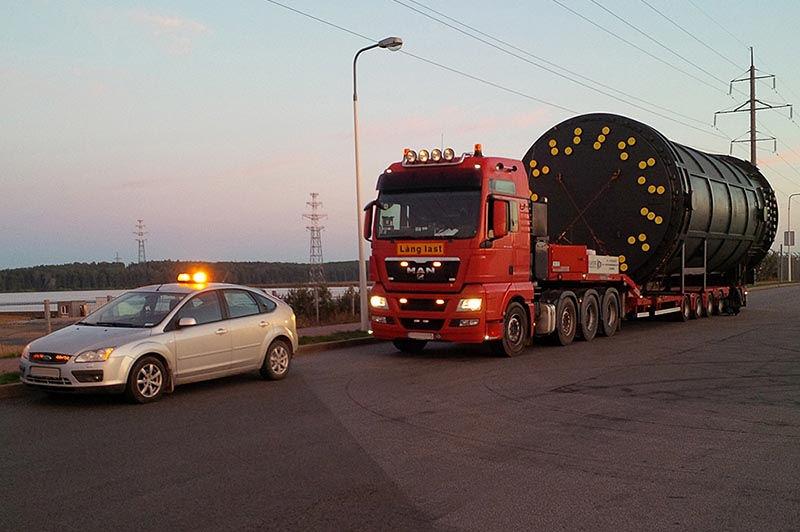 сопровождение негабаритных грузов автомобилем прикрытия