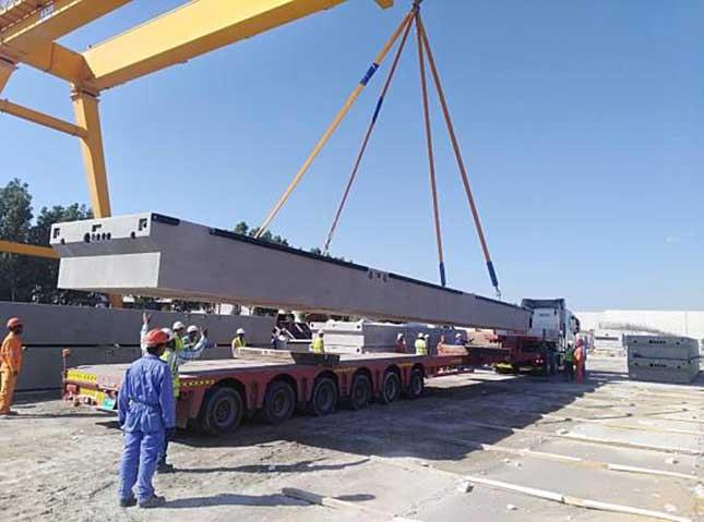Перевозка понтонного моста