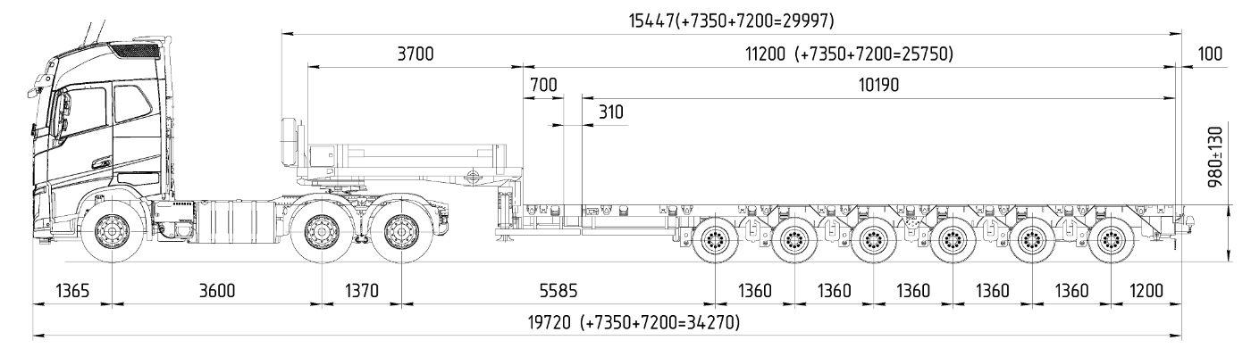 Схема GOLDHOFER STZ-H 6 AA