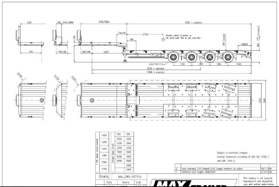 Схема MAX TRAILER F-544-1A1Y