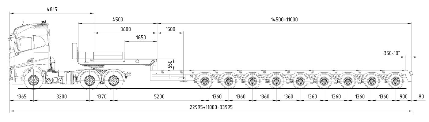 аренда трала 120 тонн