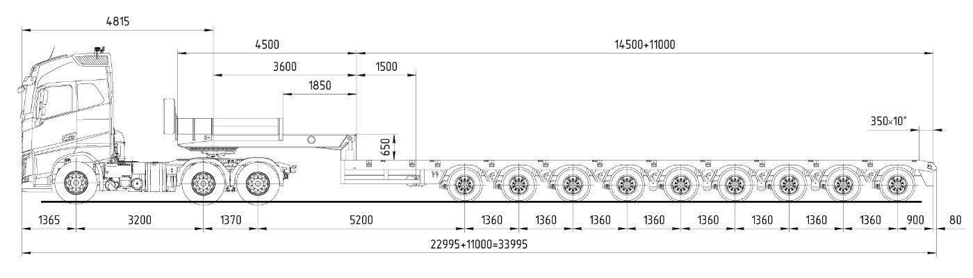 аренда трала 154 тонны