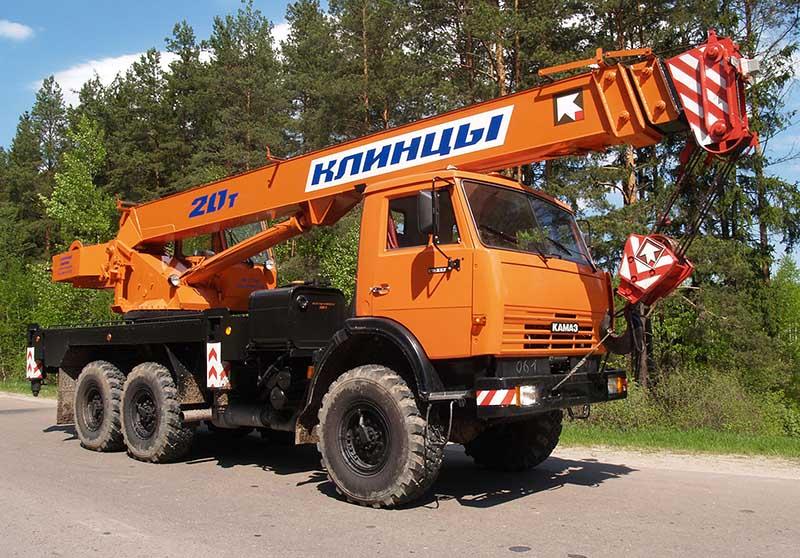 аренда автокрана 20 тонн